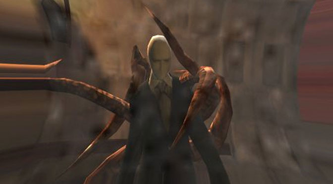 Slender Man, tall and scary