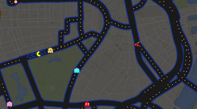 Playing Pac-Man on Google Maps