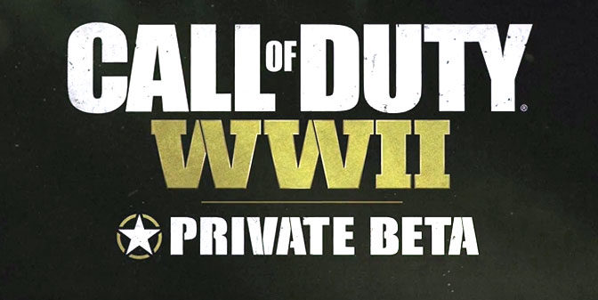 Call of Duty World War II Multiplayer Private Beta Scheduled