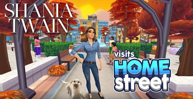 Shania Twain Joins Home Street Mobile Game