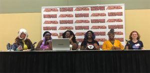 The impressive MeToo panel at Baltimore Comic Con.
