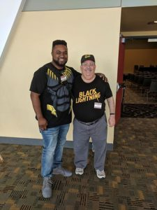 GiN's Michael Major with Black Lightning creator Tony Isabella.