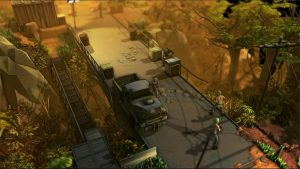 Jagged Alliance: Rage! bridge battlefield.
