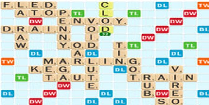 The Scrabble Board from the iOS app.