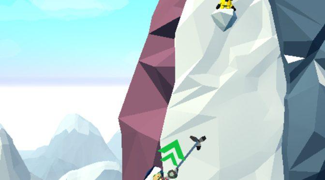Hang Line: Mountain Climber Falls a Little Flat