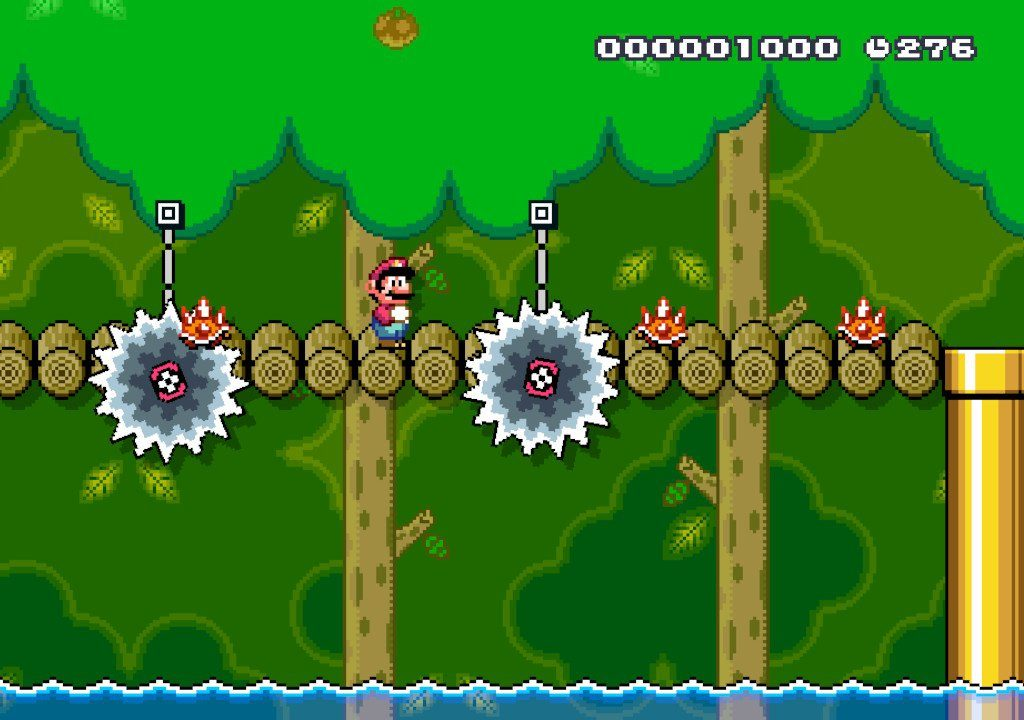 a screenshot from a godawful mario maker level made by an idiot.