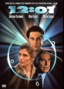 DVD art from the movie 12:01, the best and most famous movie about time loops released in 1993.