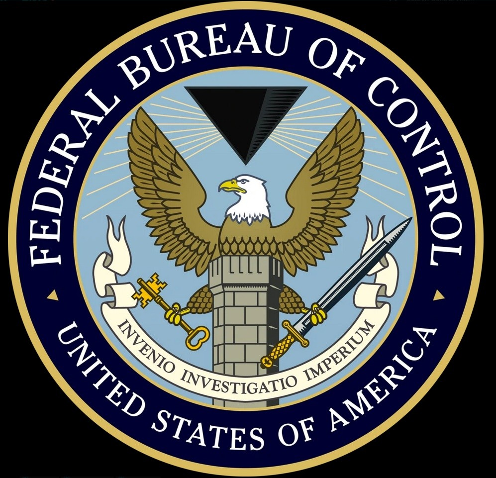 Logo and seal of the Federal Bureau of Control.