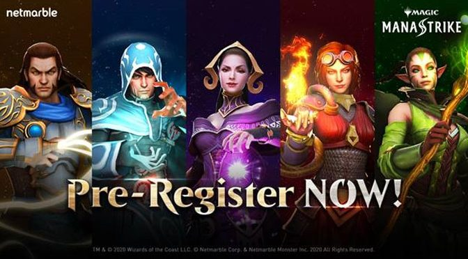 Joint Netmarble and Magic The Gathering Game ManaStrike Begins Pre-Registration