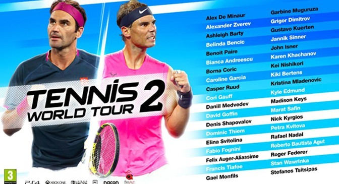 Tennis World Tour 2 Announces Player Lineup for New Game