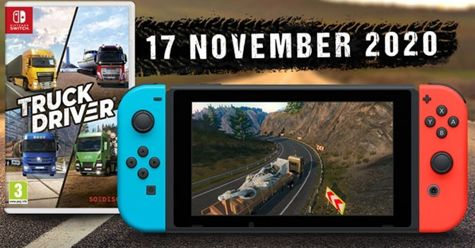 Truck Driver Motoring to Nintendo Switch