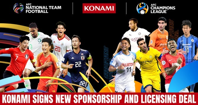 Konami Partners with Asian Football Confederation