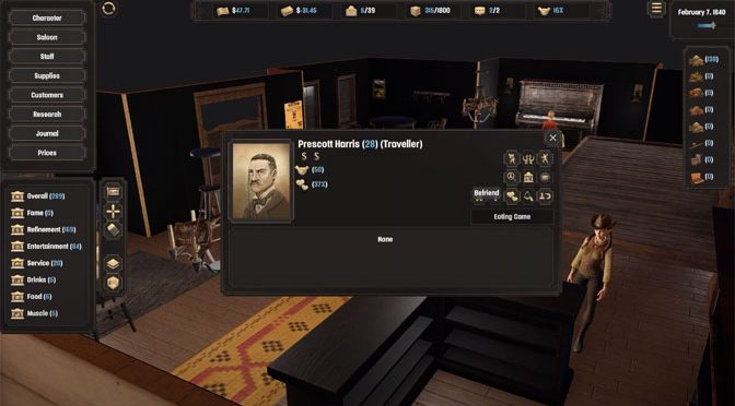 Deadwater Saloon Management Game Announced